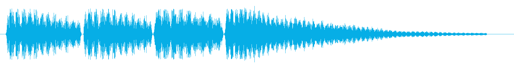 ビブラホーン風のお知らせ音の再生済みの波形