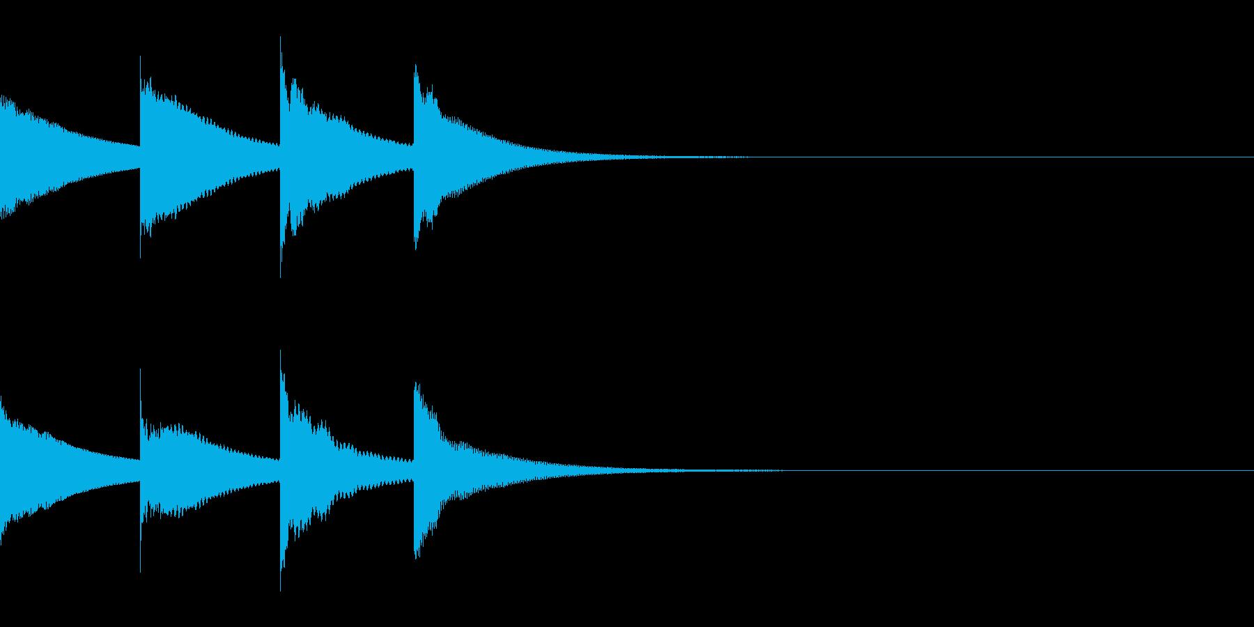 ピンポンパンポン(アナウンス・上行)の再生済みの波形