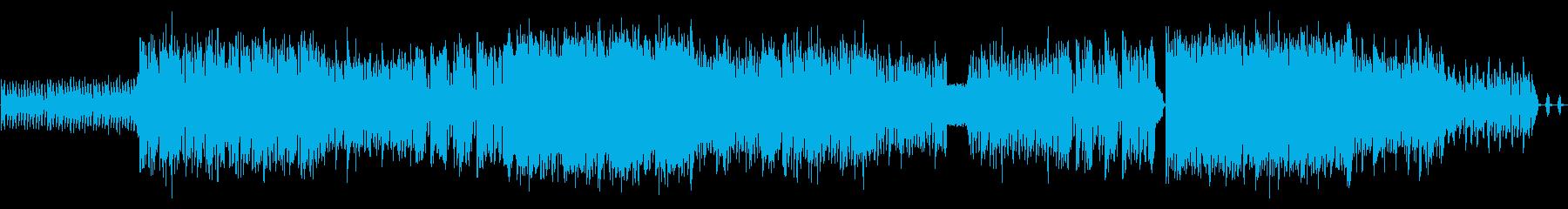 近未来のレースをイメージしたインストの再生済みの波形