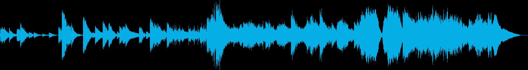 不気味でミステリアスな雰囲気のBGMの再生済みの波形