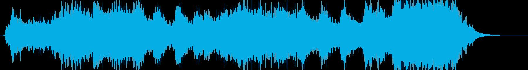 邪悪なイメージのファンファーレ1の再生済みの波形