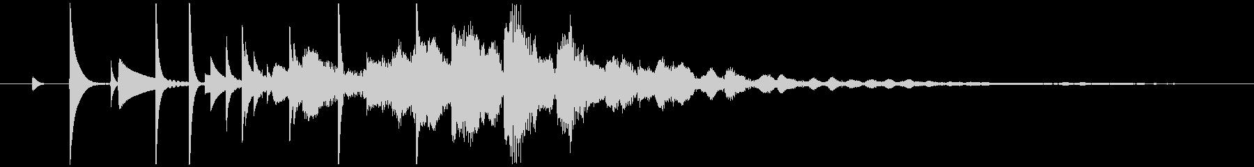 電子音によるジングルの未再生の波形