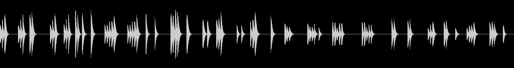 【アニメ風】ほのぼのした日常会話シーンの未再生の波形