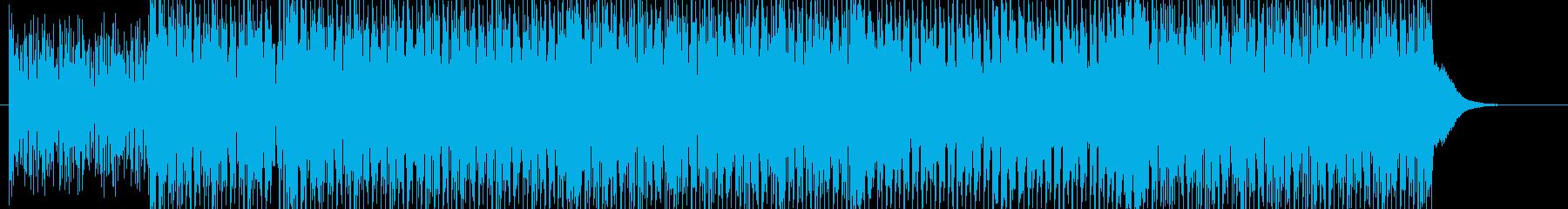 盛り上がるシーンなどに合いそうなテクノの再生済みの波形