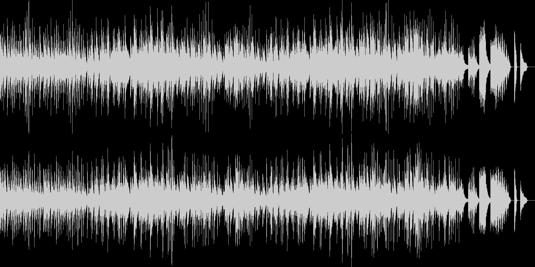 美しくて華やかなピアノのワルツの未再生の波形
