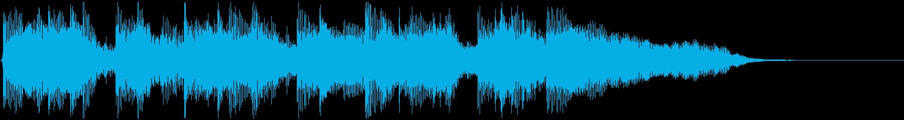バイオリンメロのジングルの再生済みの波形