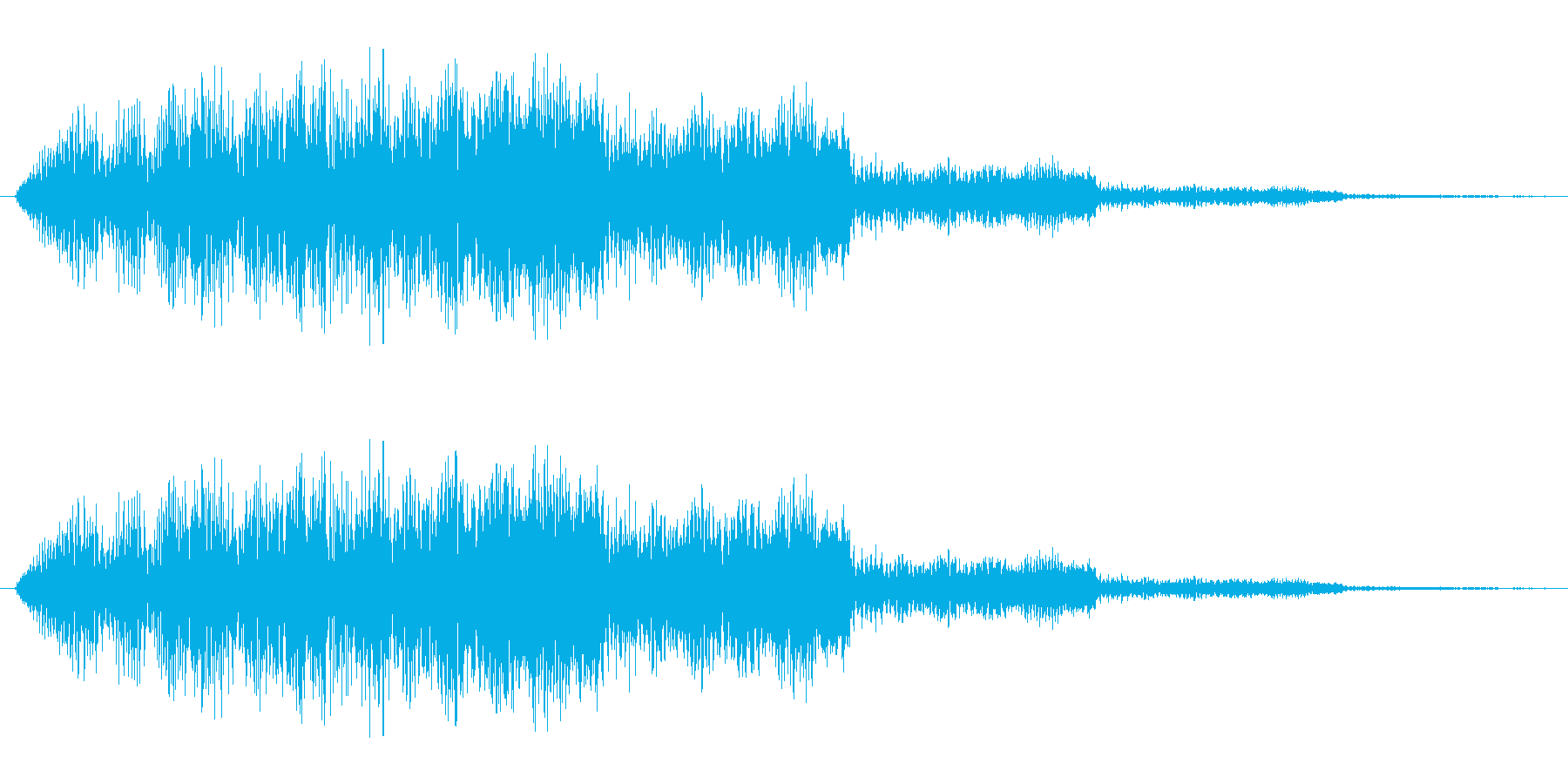 キラキラした電子音です。ゲームに使われ…の再生済みの波形