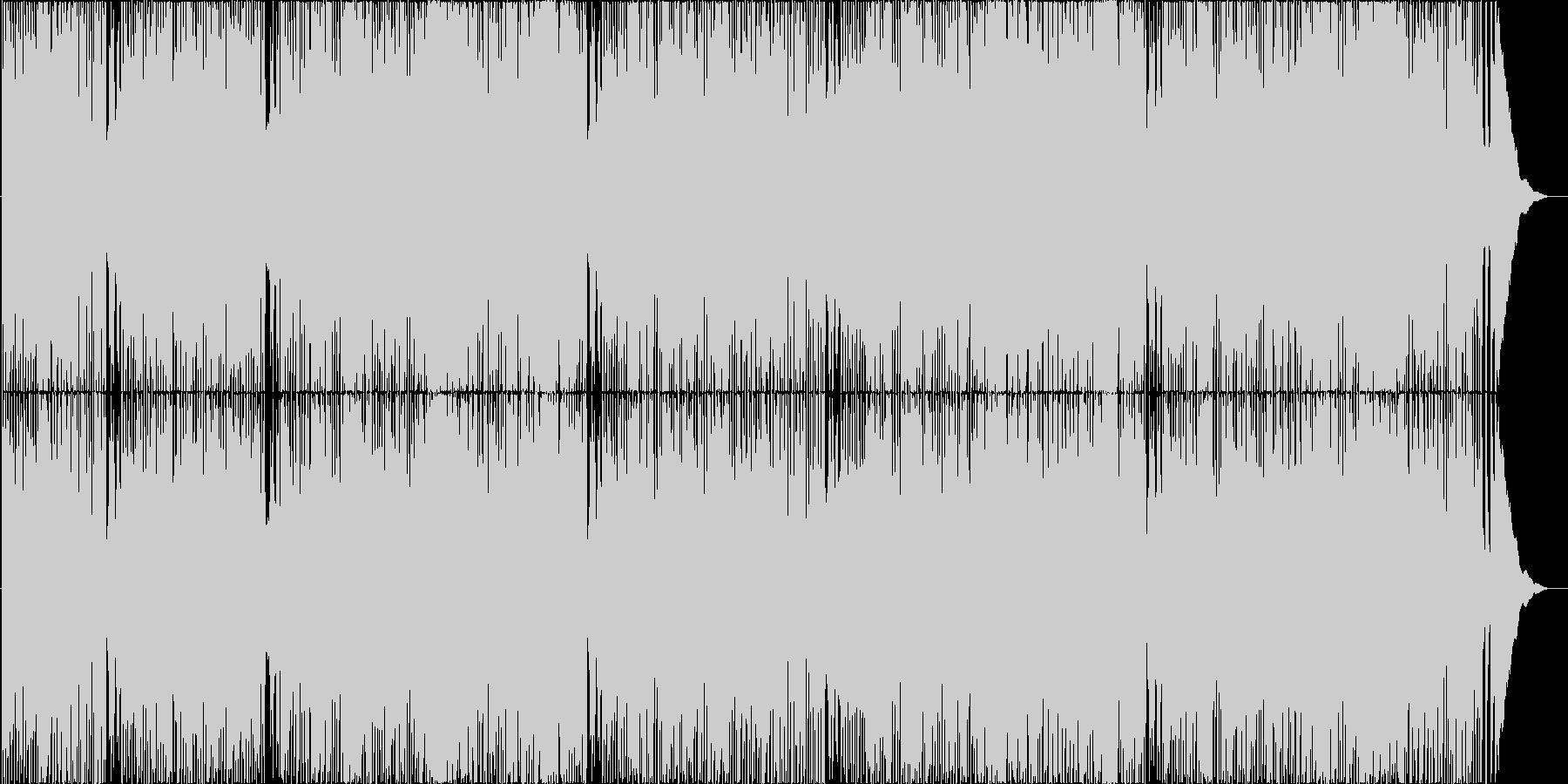 ラーメンを題材とした疾走感ある昭和ロックの未再生の波形