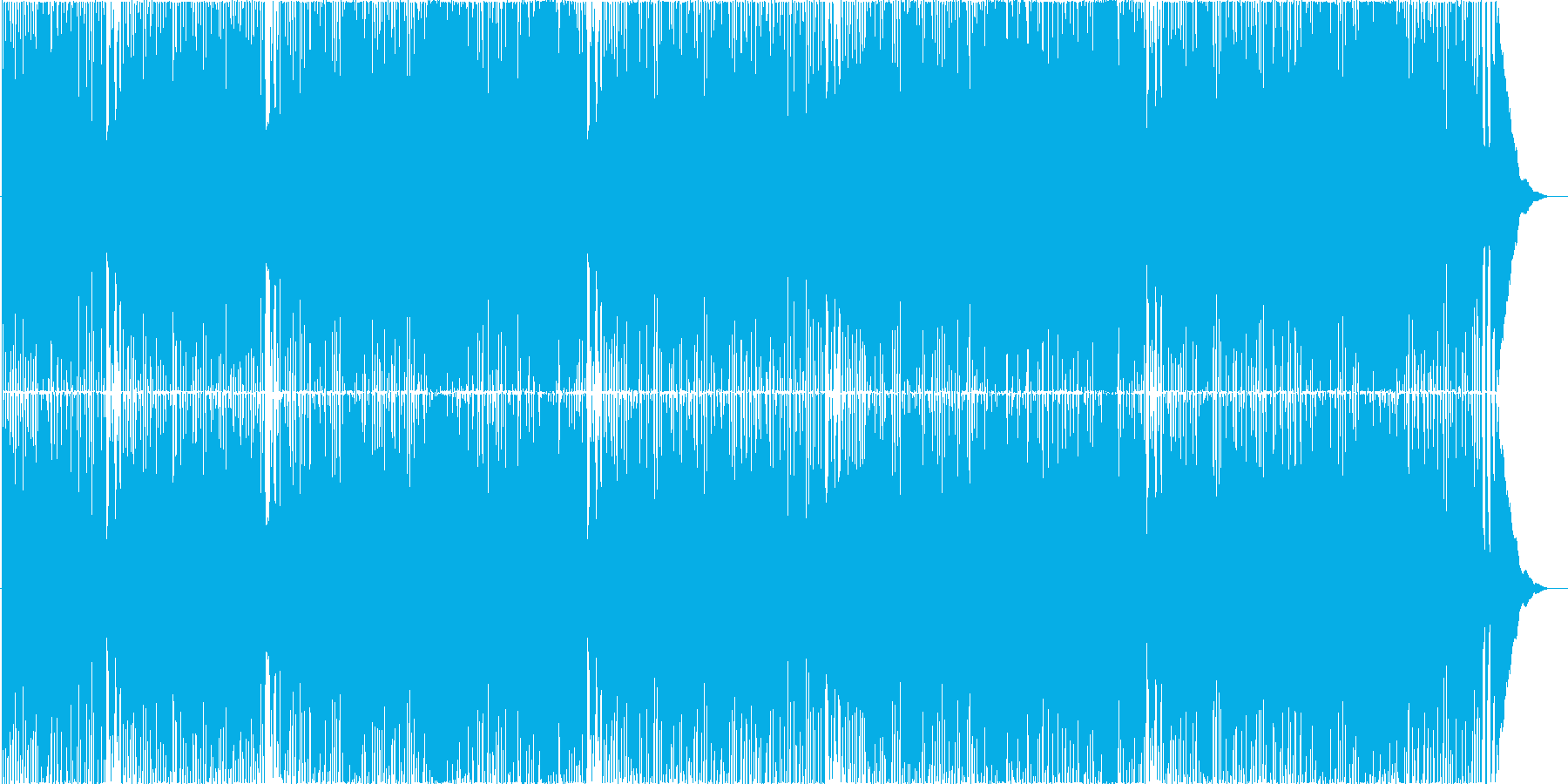 ラーメンを題材とした疾走感ある昭和ロックの再生済みの波形