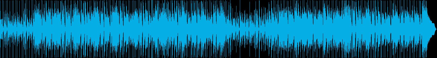 ブルージーなアコースティックトラックの再生済みの波形