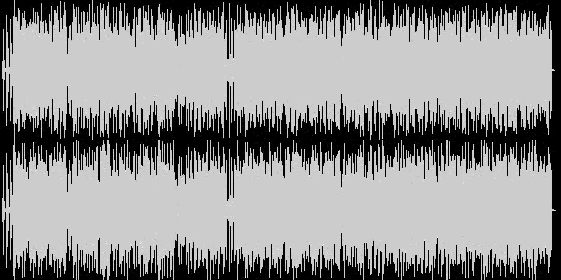 勢いあるドラムとヘビーなエレキサウンドの未再生の波形