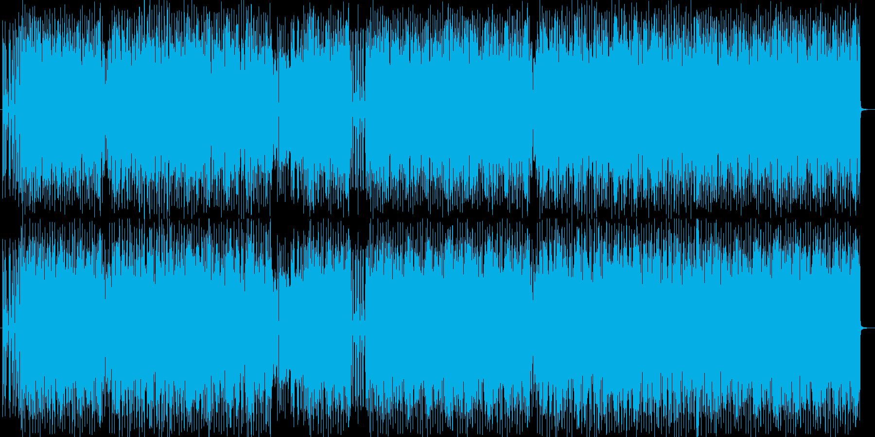 勢いあるドラムとヘビーなエレキサウンドの再生済みの波形
