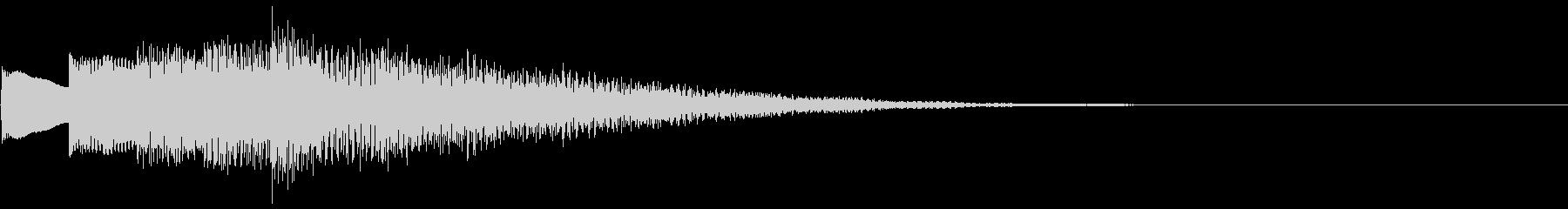 不思議なベルの未再生の波形