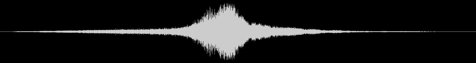 内線:左から右へ高速で渡すの未再生の波形