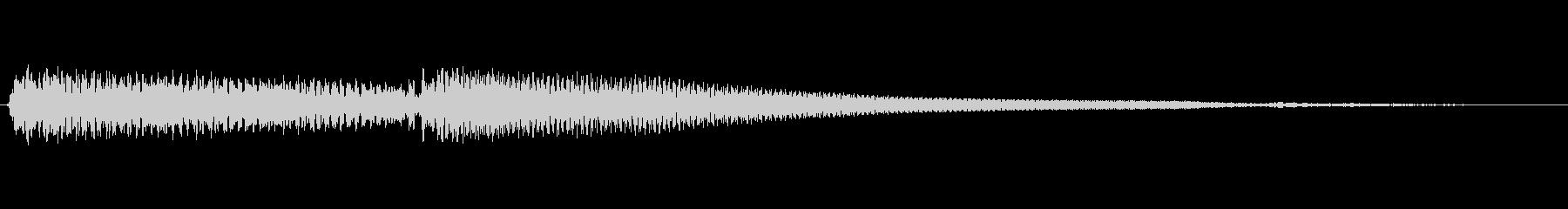 幻想的なピアノの転換音の未再生の波形