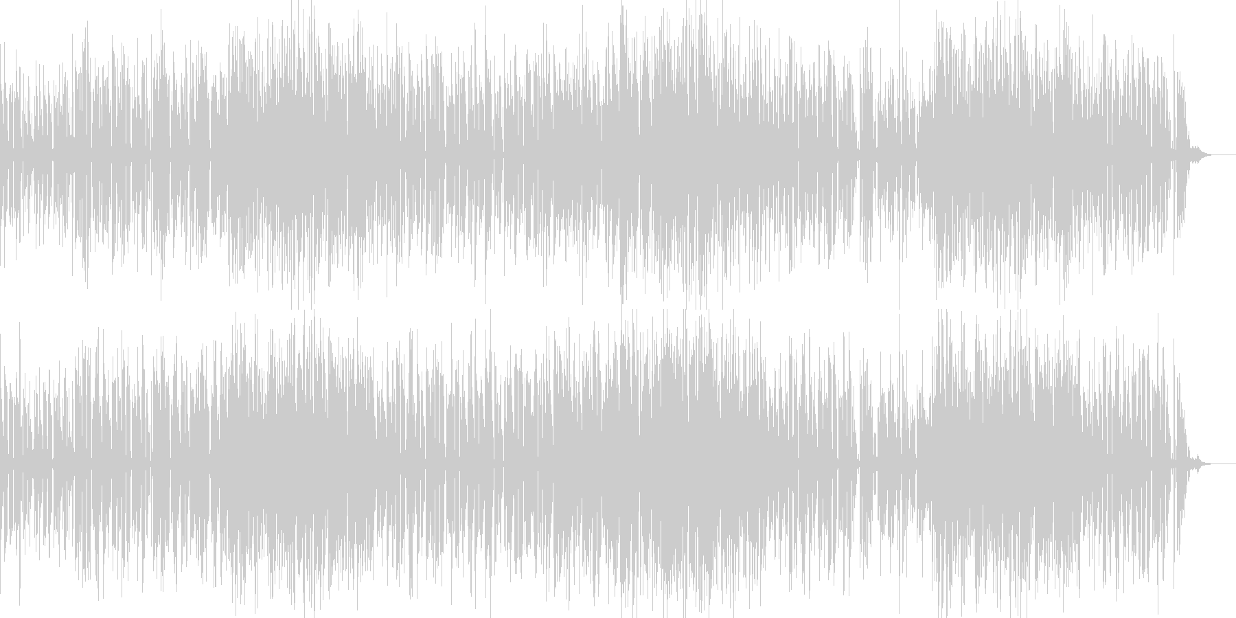 お洒落なジャズピアノトリオ17 クールの未再生の波形