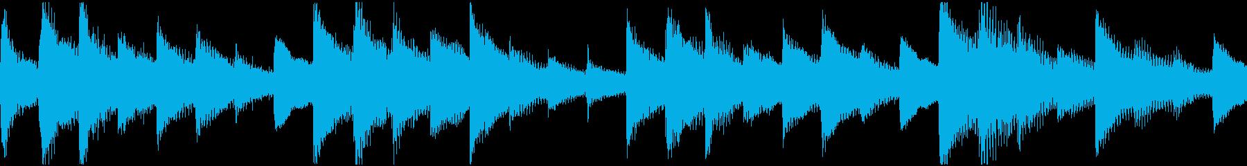 ハープアルペジオ(ループ):癒し、朝の再生済みの波形