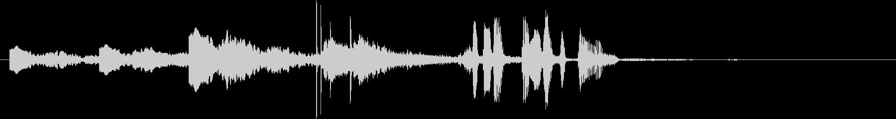 雨を知らせるサイン音+男性アナウンスの未再生の波形