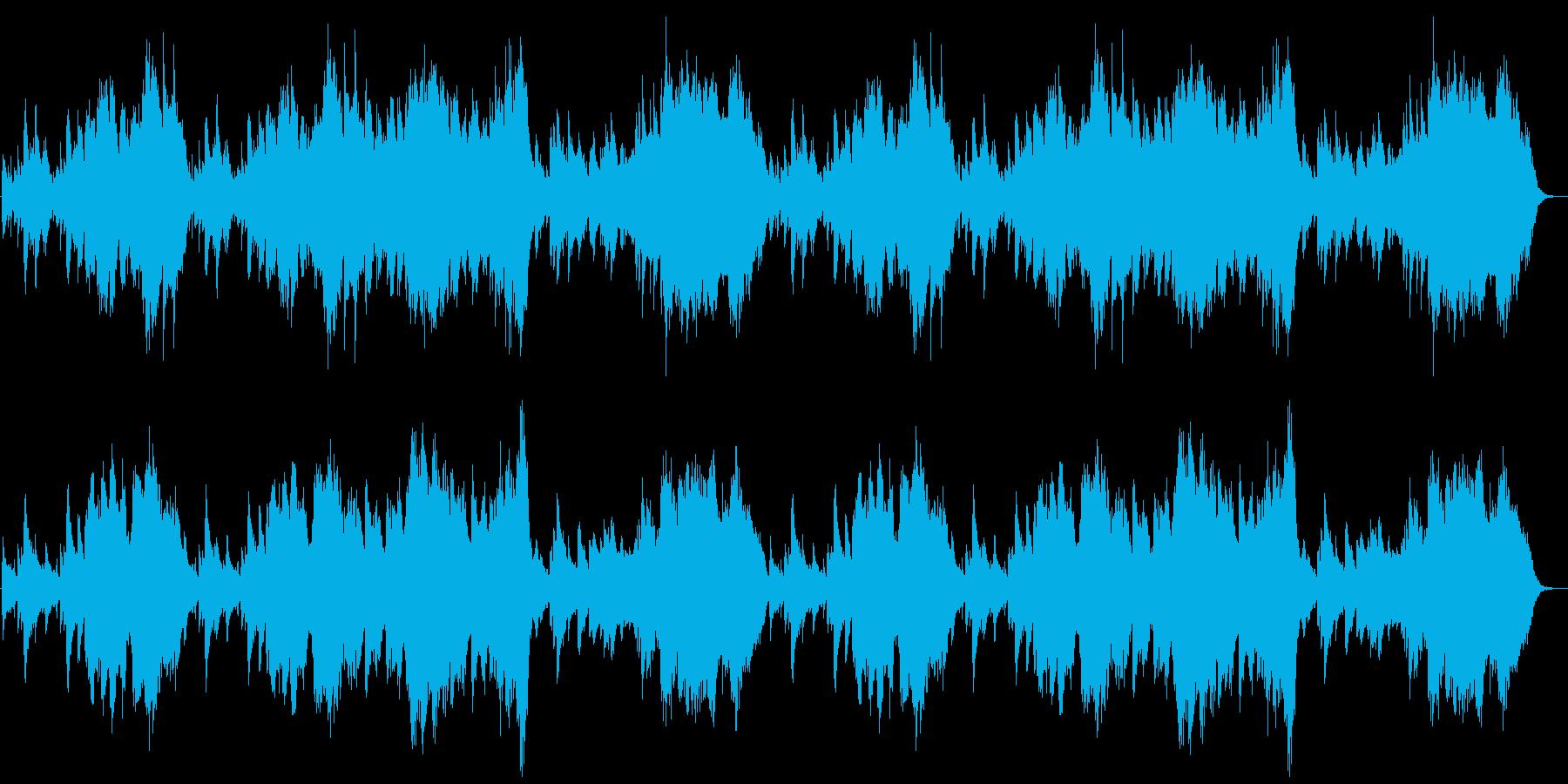 可愛らしいヒーリング・ワルツの再生済みの波形