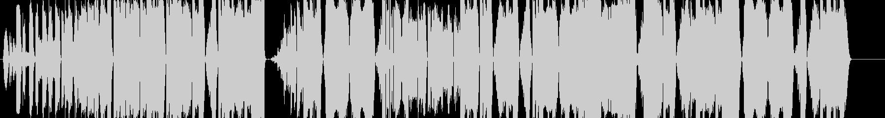 グリッチ系ダンスビートの未再生の波形