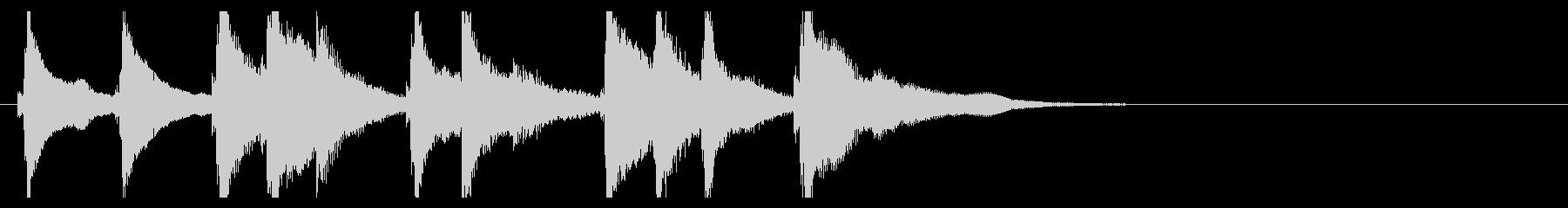 お琴の定番ジングル05の未再生の波形