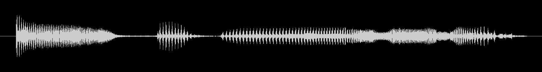 中年の女性A:わからないの未再生の波形