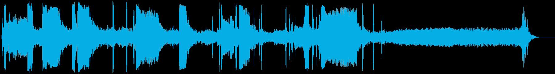 ブルドーザー;開始、改訂、オフ;ブ...の再生済みの波形