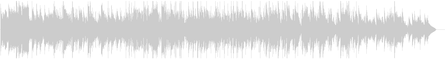 ドリームポップ風味なサックスとピアノの未再生の波形