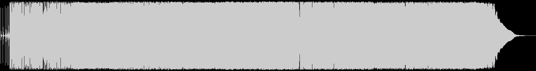 軽快なテンポのロックンロール・ポップの未再生の波形