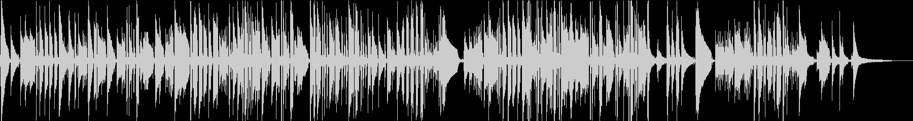 ベートーベンの名曲を引用したソロギターの未再生の波形