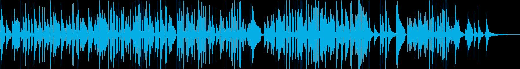 ベートーベンの名曲を引用したソロギターの再生済みの波形