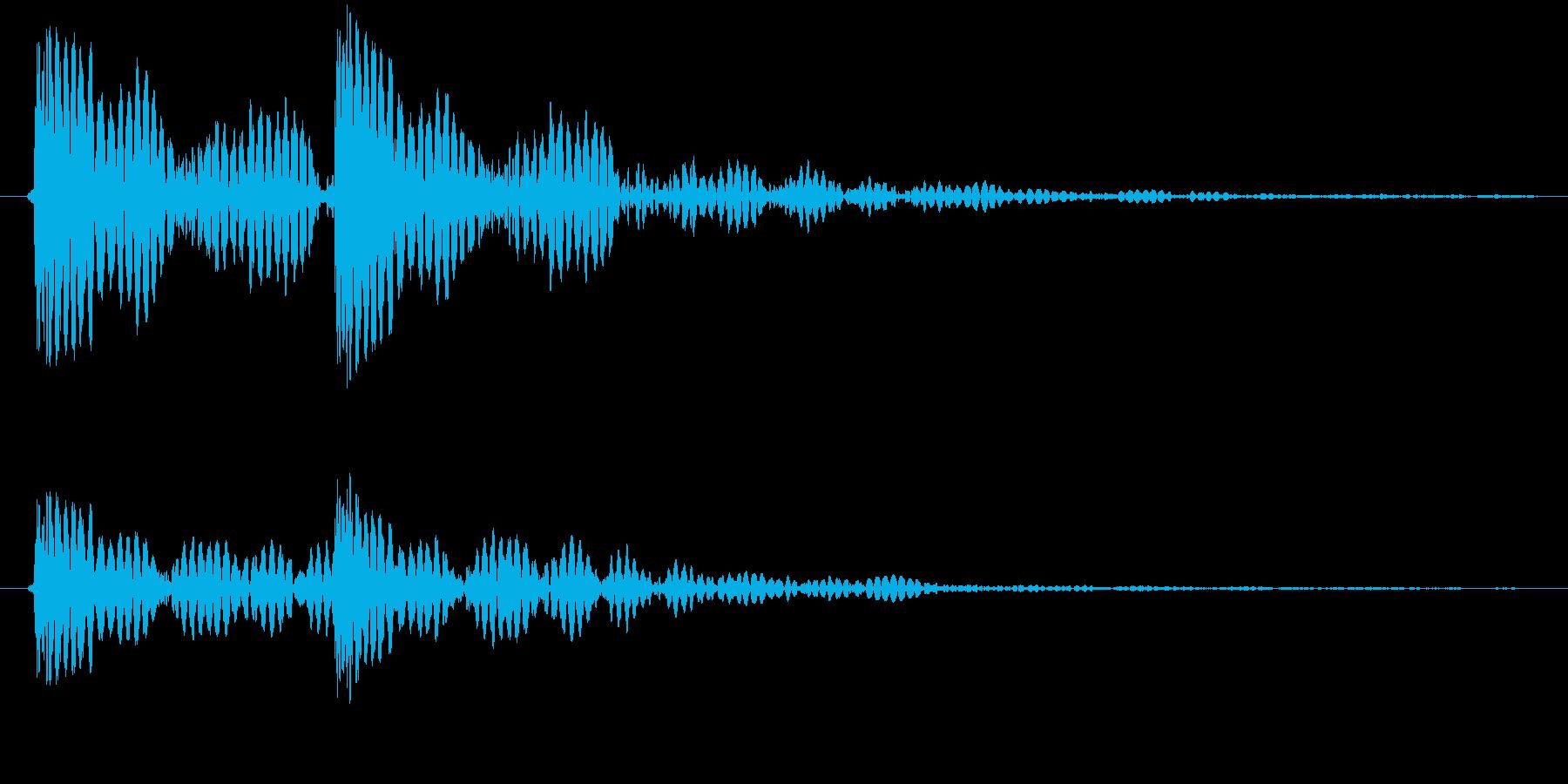 ドンドン、と玄関をノックする音ですの再生済みの波形