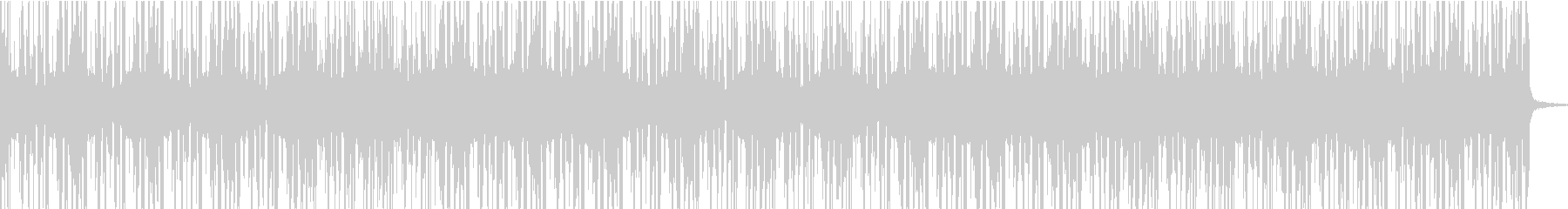 レトロな雰囲気のチルウェイブの未再生の波形