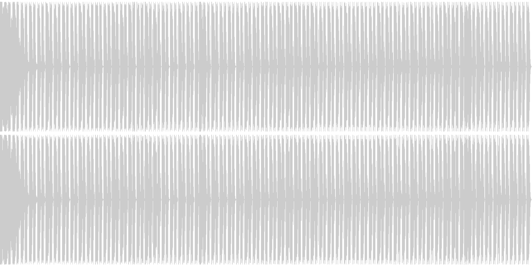 【エレクトロニカ】テクノ、ロング2の未再生の波形