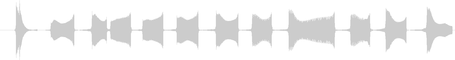 宇宙コンピューターテレメトリー高デ...の未再生の波形