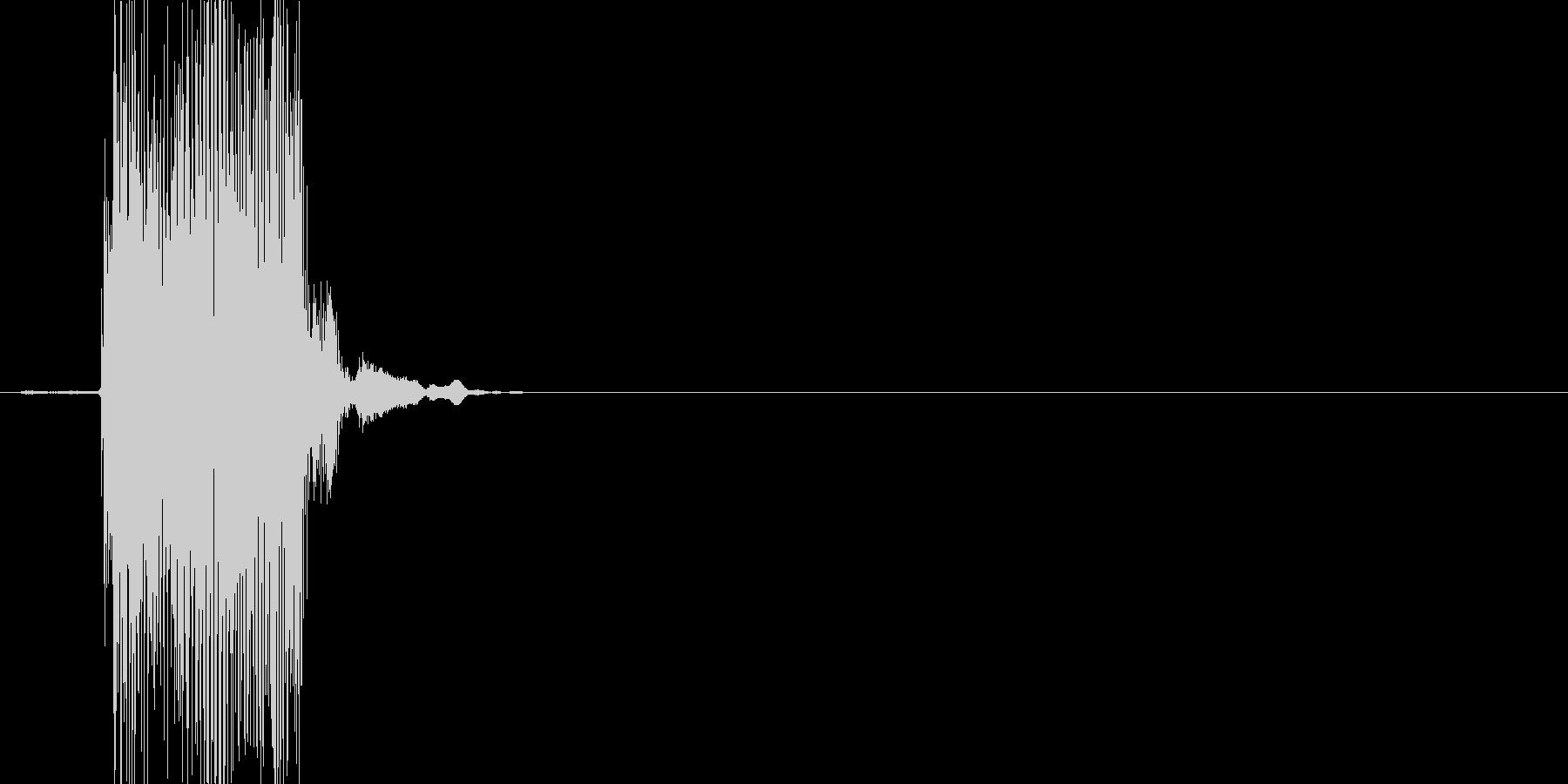 ぷぴゅー(鳴き声)の未再生の波形