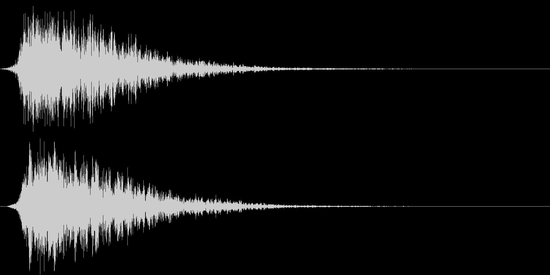 SFX 地獄の呻き声を連想させるPADの未再生の波形
