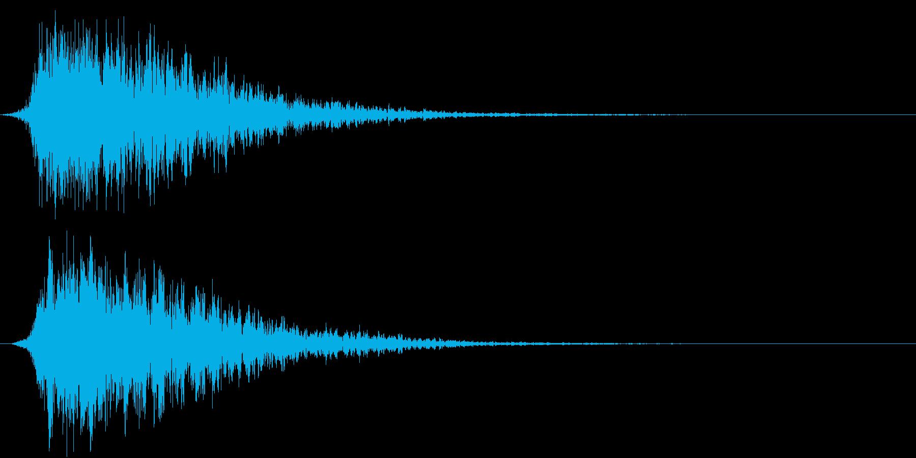 SFX 地獄の呻き声を連想させるPADの再生済みの波形