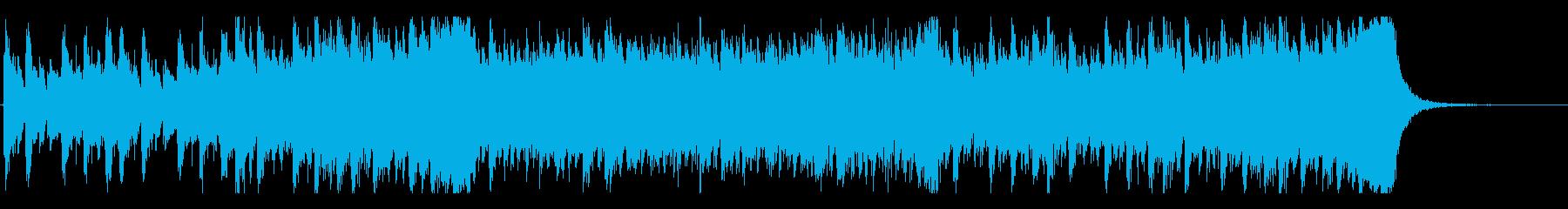 スリル感を演出するオーケストラの再生済みの波形