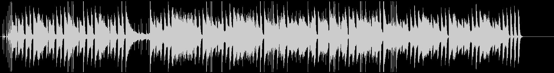 ほのぼのとしたピアノと木琴の会話シーン曲の未再生の波形