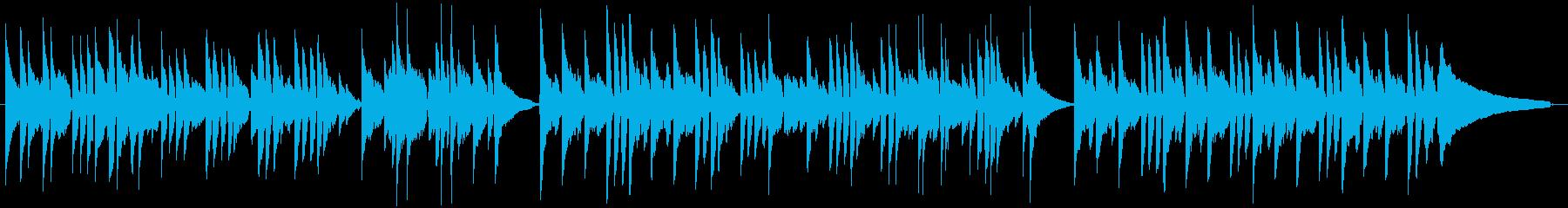 アコースティックギターのスローな曲の再生済みの波形