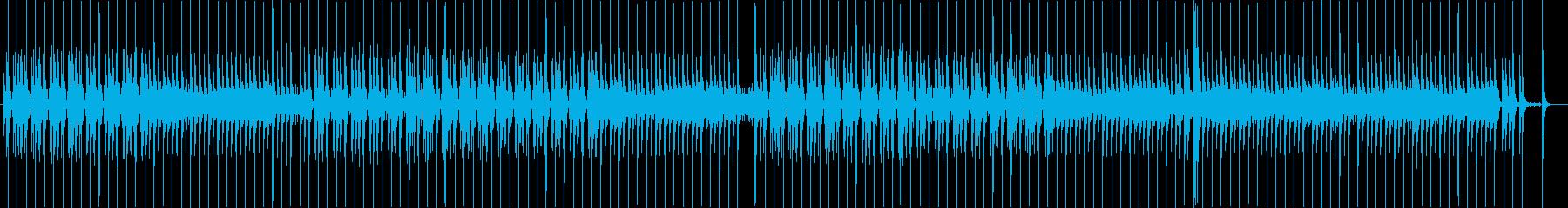 泡とドラムの無機質でクールなBGMの再生済みの波形