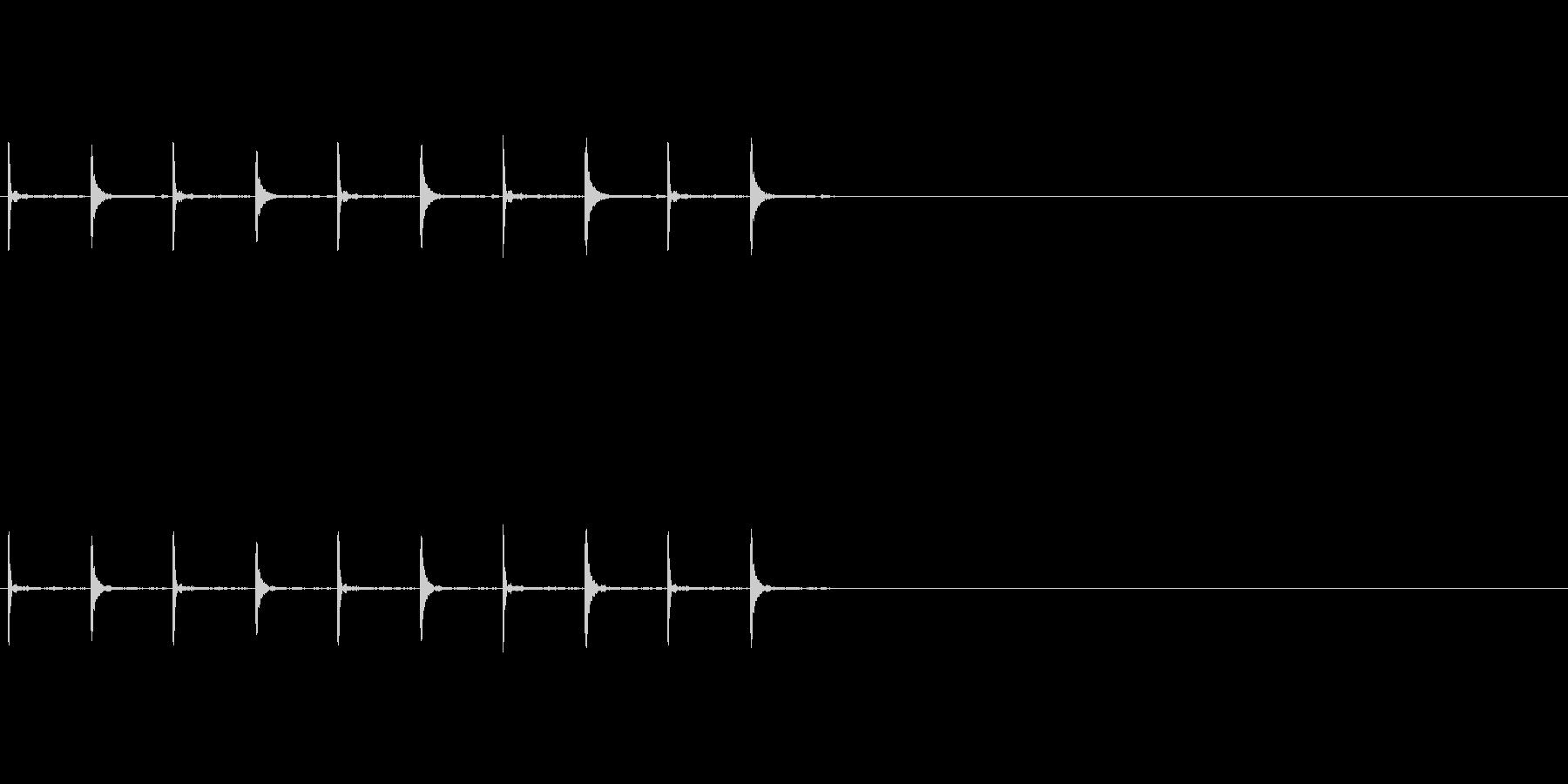 カウントダウン/木の音/5秒の未再生の波形