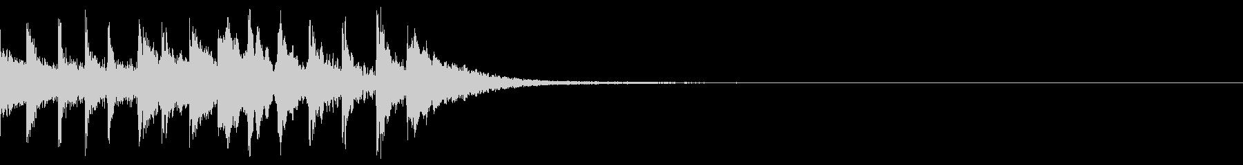ジャララン 上昇 トイピアノの未再生の波形