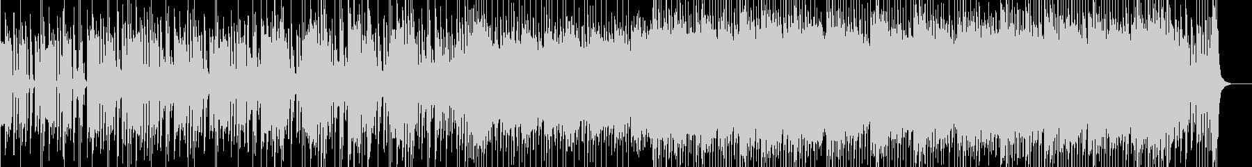 先進的なデジタルデバイスをイメージした曲の未再生の波形