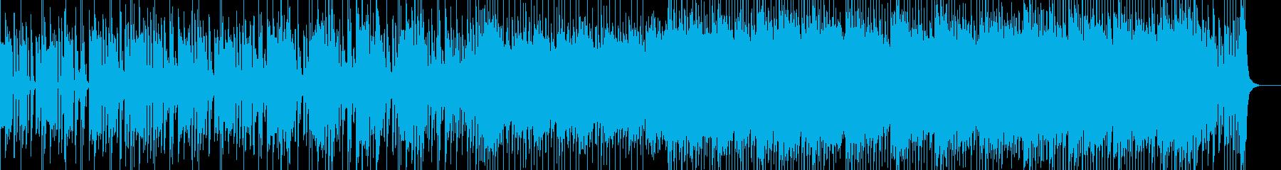 先進的なデジタルデバイスをイメージした曲の再生済みの波形