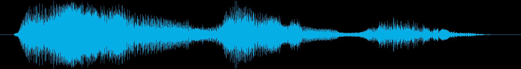 鳴き声 男性戦闘ダイ08の再生済みの波形