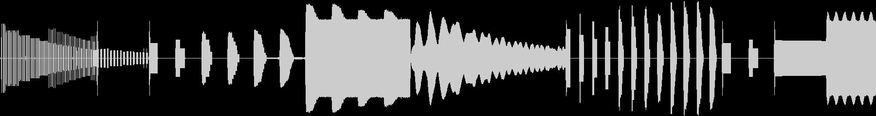 変動する電子レーダー警告スキャンの未再生の波形