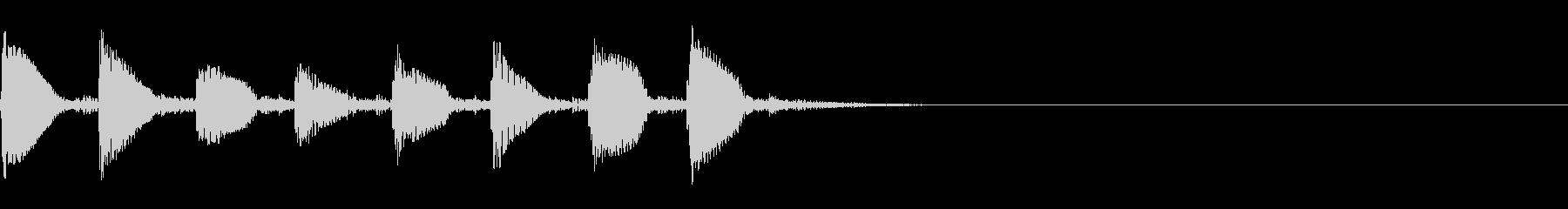 (話す、テキスト表示)短めA01の未再生の波形