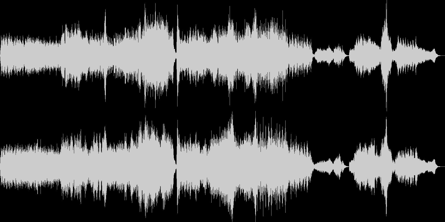 アップテンポコメディタッチオーケストラ曲の未再生の波形